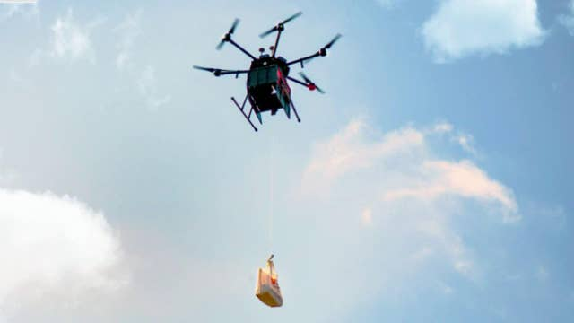 Drone delivers meals, groceries to residents