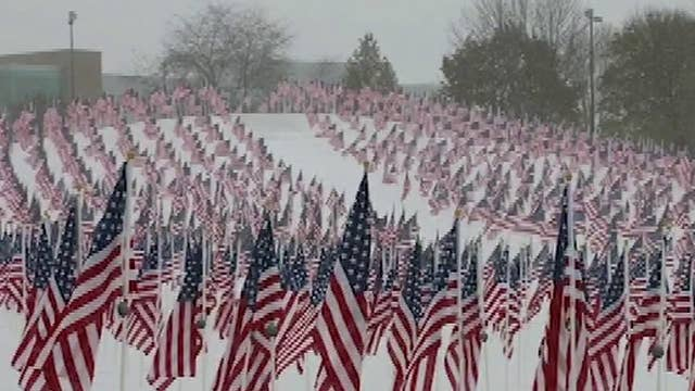 Foundation honors veterans by placing flags in 'healing fields'