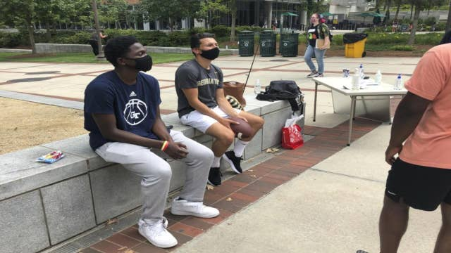 Some college students staying on campus despite remote learning