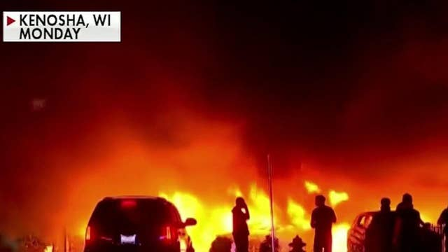 Fiery clashes erupt for second straight night in Kenosha, Wisconsin