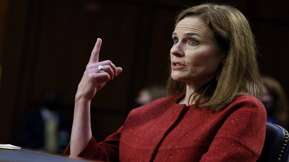Amy Coney Barrett's calm demeanor during hearings is her 'superpower,' Harmeet Dhillon says