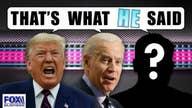 Who said it: Trump or Biden?