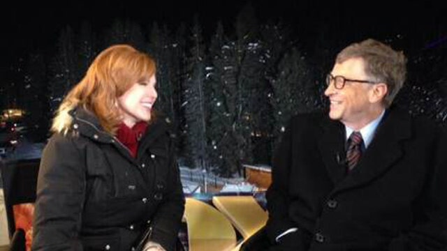 Microsoft chairman Bill Gates weighs in on the global economy at the World Economic Forum.