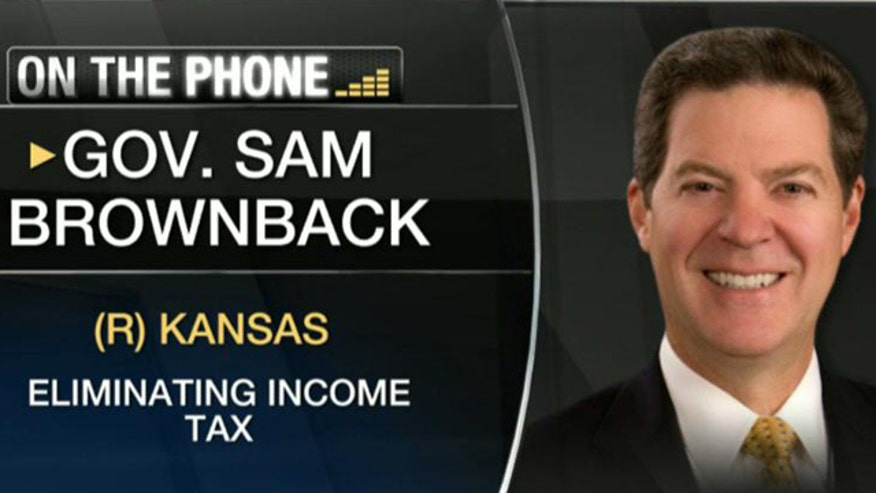 "Gov. Sam Brownback argues the state has ""the best atmosphere to grow small businesses""."