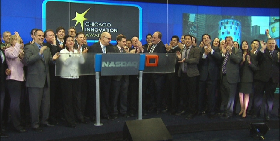 FOXBusiness.com's Kate Rogers at the NASDAQ with this year's winners of the Chicago Innovation Awards, honored for their products and services released in the past year.