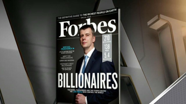 Forbes Media Editor Steve Forbes on the list of the 200 wealthiest people in the world.