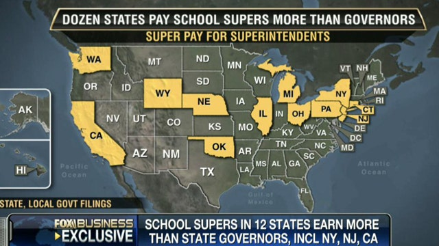 FBN's Liz MacDonald breaks down the states where superintendent's are making CEO pay.