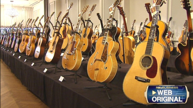 FBN's Seana Smith on the 265 iconic guitars up for auction at Guernsey's.