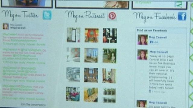 HGTV interior designer Meg Caswell breaks down social media's impact on business.