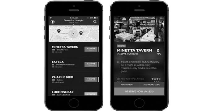 New app Resy helps foodies book reservations at NYC's most popular restaurants.
