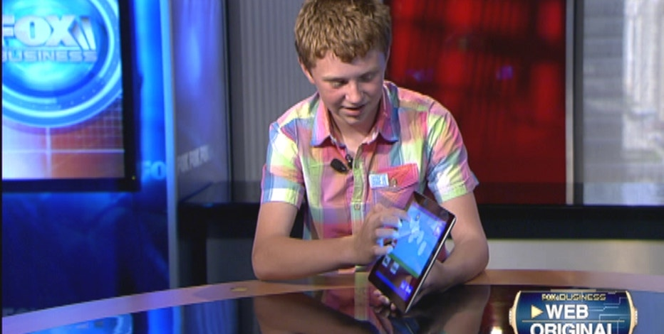FOXBusiness.com's Kate Rogers with 13-year-old app developer Jordan Casey on his early start as an entrepreneur.