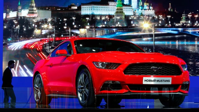 Ford Motor co-president of the Americas Joe Hinrichs on the new Mustang and the demand for sales in the auto industry.