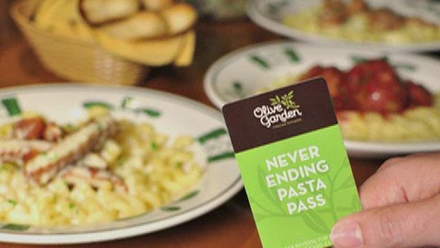 Branding expert Bruce Turkel and Simon Constable of The Wall Street Journal on Olive Garden selling 1,000 never-ending pasta passes for $100.
