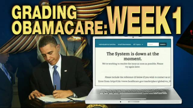 FNC's Anna Kooiman with FOXBusiness.com's Kate Rogers on the scores analysts are giving to ObamaCare's first week of open enrollment.