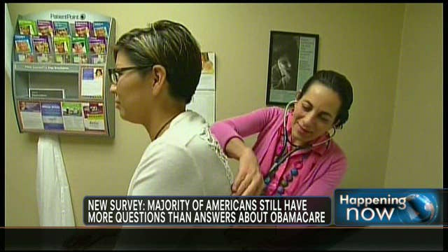FNC's Jenna Lee with FOXBusiness.com's Kate Rogers on a new survey that finds the uninsured may have more questions than answers when it comes to the Affordable Care Act.