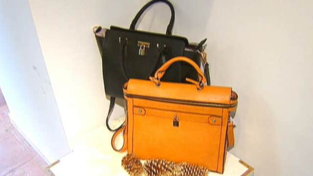 FBN's Seana Smith with a first-hand look at Angela & Roi, a company that gives a portion of its handbag sales to charity.