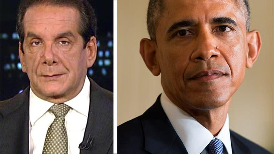 "Obama is ""negotiating out of weakness and desperation,"" Charles Krauthammer said Friday on 'Special Report with Bret Baier'"