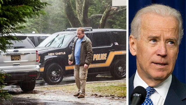 Man says police beat him after shots outside Biden home