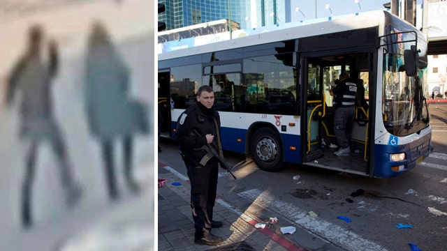 Palestinian stabs 11 people on Tel Aviv bus, officials say