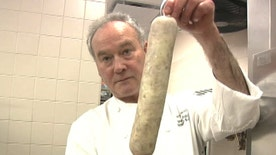 Master butcher Marc Pauver show us how to make pâté and garlic sausage, French style.