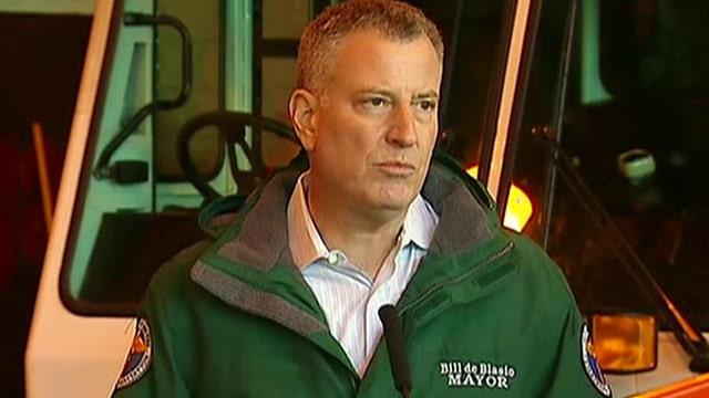 NYC Mayor de Blasio says be prepared for blizzard