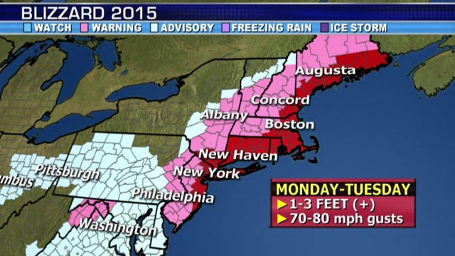 National forecast for Monday, January 26