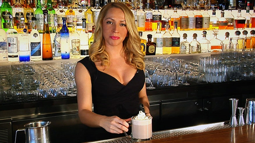 Bartender Veronika Kocunova demonstrates the Snowday: a Nutella-infused cocktail for snowy wintry nights.
