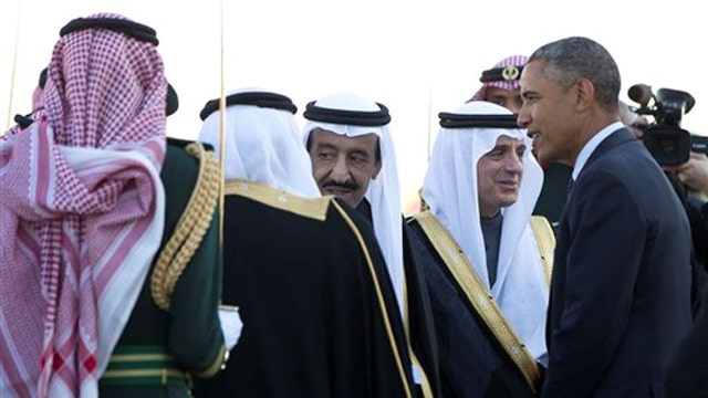 Obama arrives in Saudi Arabia to meet with new ruler