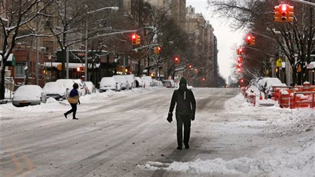 New York City escapes the worst of the snowstorm