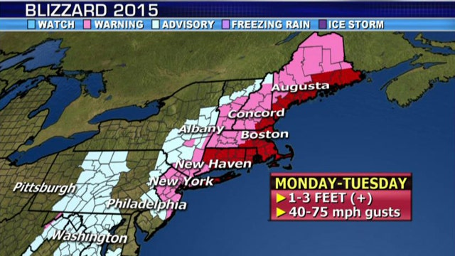 National forecast for Tuesday, January 27
