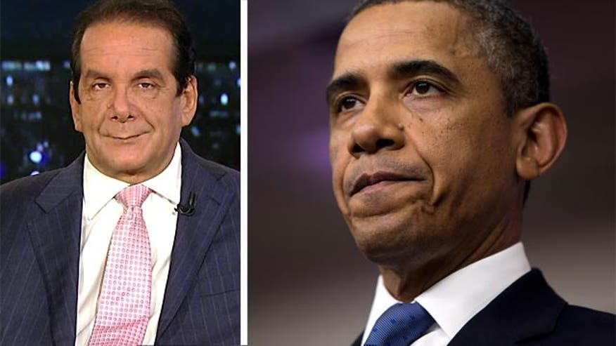 "Charles Krauthammer said Thursday President Obama is ""doing a dance in the end zone"" over the new budget battle when he's ""not even past the 50-yard line."""