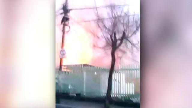 Fireball seen as gas blast levels Mexico hospital