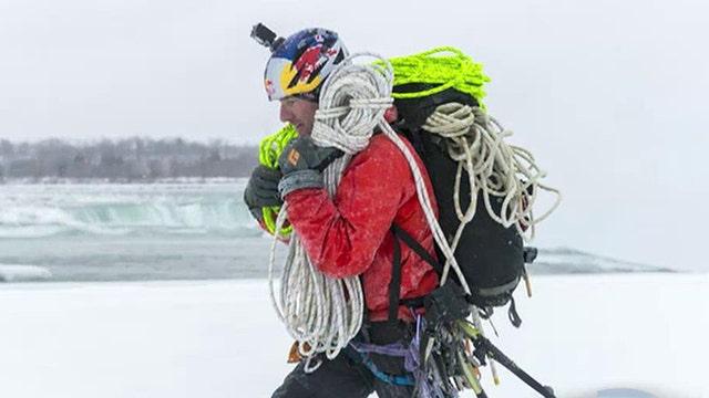 Daredevil becomes first person to climb Niagara Falls