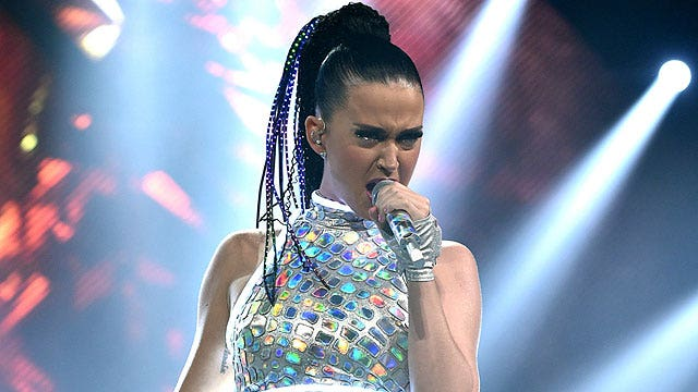 Gamblers betting on Katy Perry's cleavage at Super Bowl