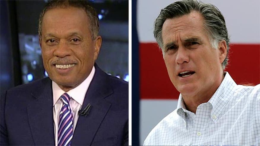 "Juan Williams said Friday on ""Special Report with Bret Baier"" that 2012 GOP presidential nominee Mitt Romney took the hint some donors in his party were sending -- and announced he would not run for the nation's highest office in 2016."