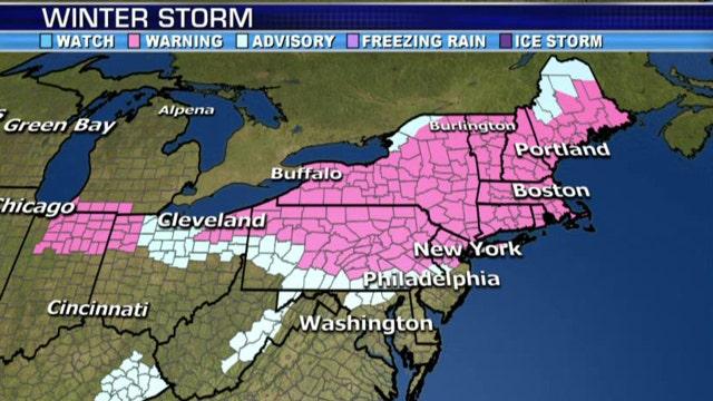 National forecast for Monday, February 2