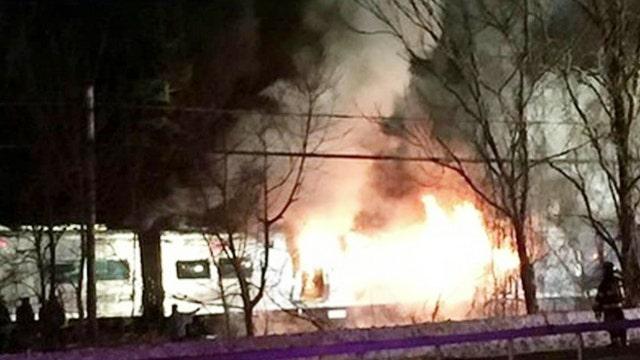 Train crash leaves at least 6 dead, 12 injured