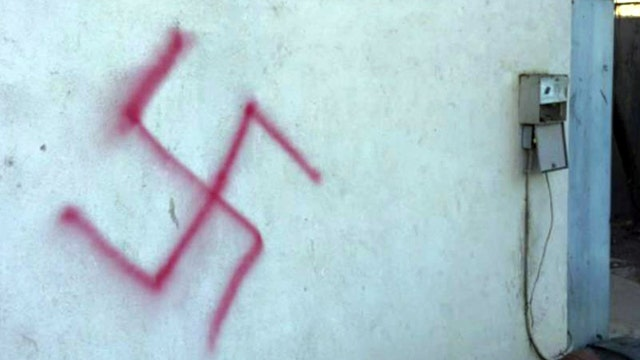 Jewish fraternity house defaced with swastikas