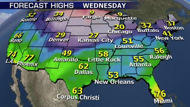 National forecast for Wednesday, February 4