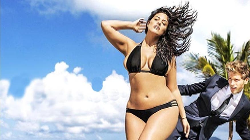 Size 16 Ashley Graham makes swimsuit history!