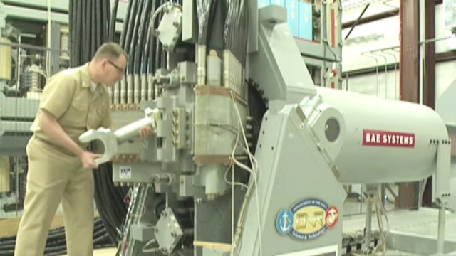 Image result for US Navy's new 'Star Wars'-style railgun hits Mach 6