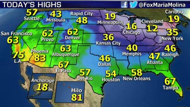 National forecast for Thursday, February 5