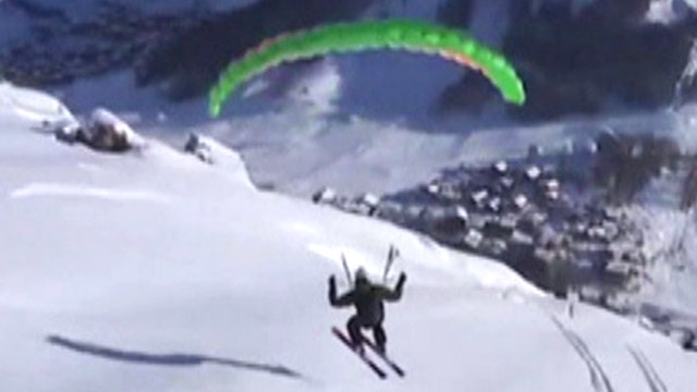 'Speed riders' race down French mountainside