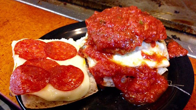 Celebrate National Pizza Day with this monster burger