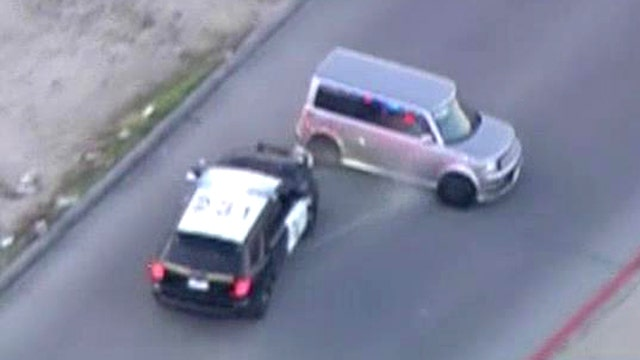 Crazy car chase comes to dramatic end in California