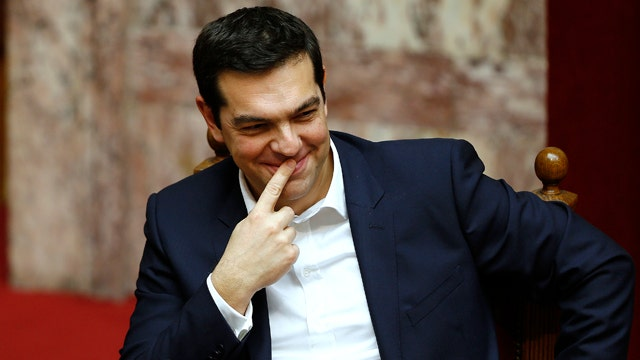 Greek PM goes casual for the nation's debt