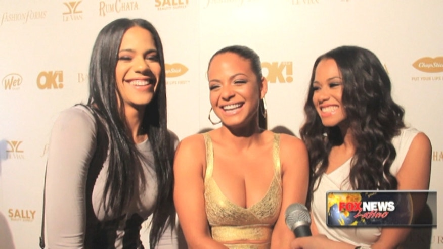 Liz, Christina, and Danielle Milian attended the OK! 2015 Pre Grammy Party at Lure in Hollywood, California.