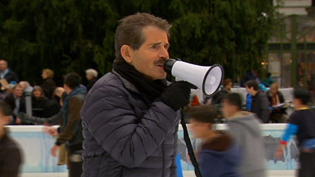 What happens when John Stossel tries to direct ice skaters?
