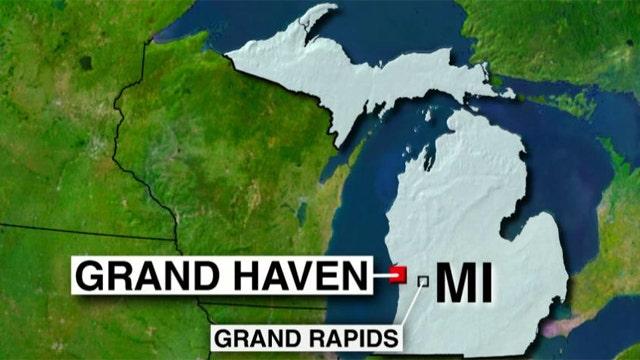 Man crashes through gate of a Michigan Coast Guard station