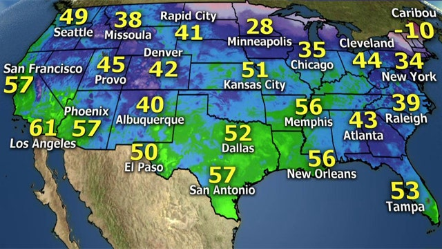 National forecast for Sunday, February 8